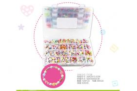 Funny plastic toy jewelry for girl kid's beauty salon diy beads kids toys No.:Feb-20