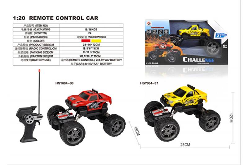 1: 18 4 channel remote control RC cars Two-wheel drive climbing car No.TA255715