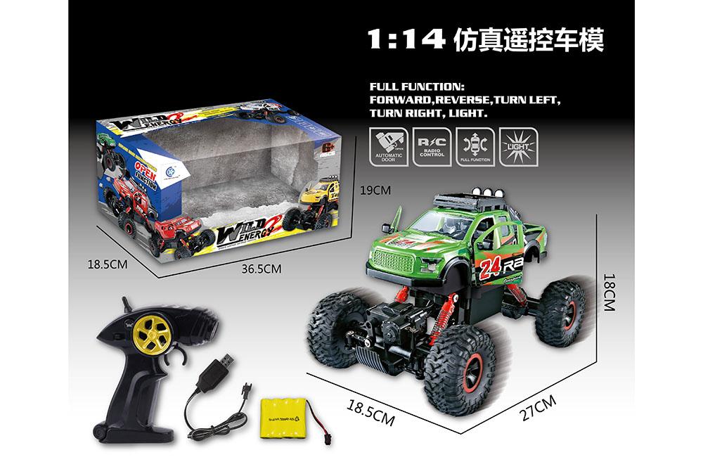 1:14 5 channel Remote control RC pickup truck Four-wheel drive climbing car toysNo.TA255990