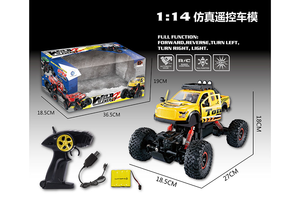 1:14 5 channel Remote control RC pickup truck Four-wheel drive climbing car toysNo.TA255991