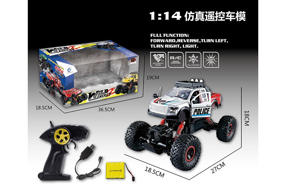 1:14 5 channel Remote control RC pickup truck Four-wheel drive climbing car toysNo.TA255992