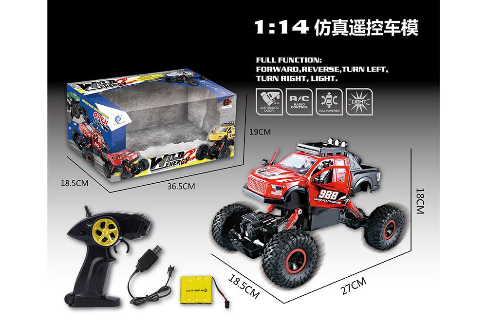 1:14 5 channel Remote control RC pickup truck Four-wheel drive climbing car toysNo.TA255993