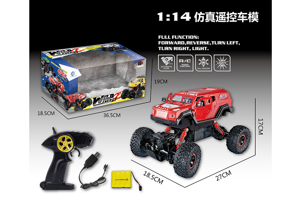 1:14 5 channel Remote control RC Four-wheel drive climbing car toys one key openNo.TA255994