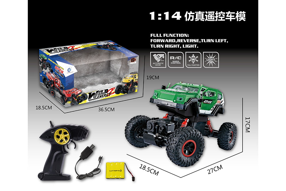 1:14 5 channel Remote control RC Four-wheel drive climbing car toys one key openNo.TA255997
