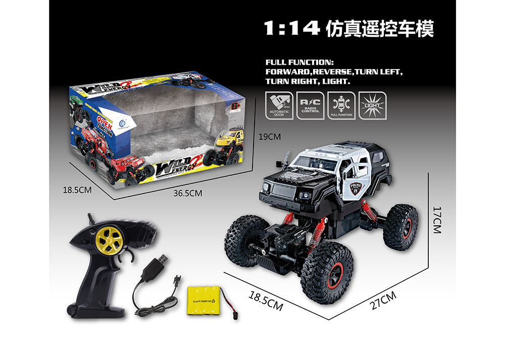 1:14 5 channel Remote control RC Four-wheel drive climbing car toys one key openNo.TA255998
