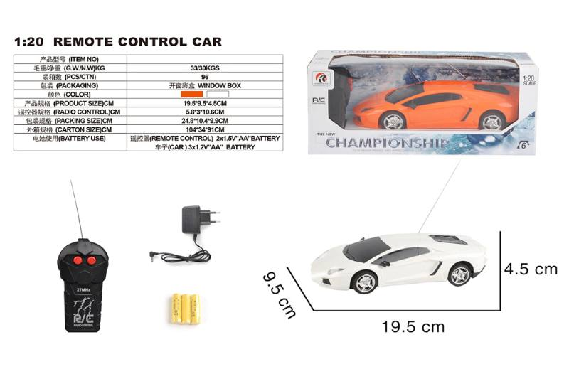 1:20 2 channel remote control RC car toys(included battery) No.TA258378