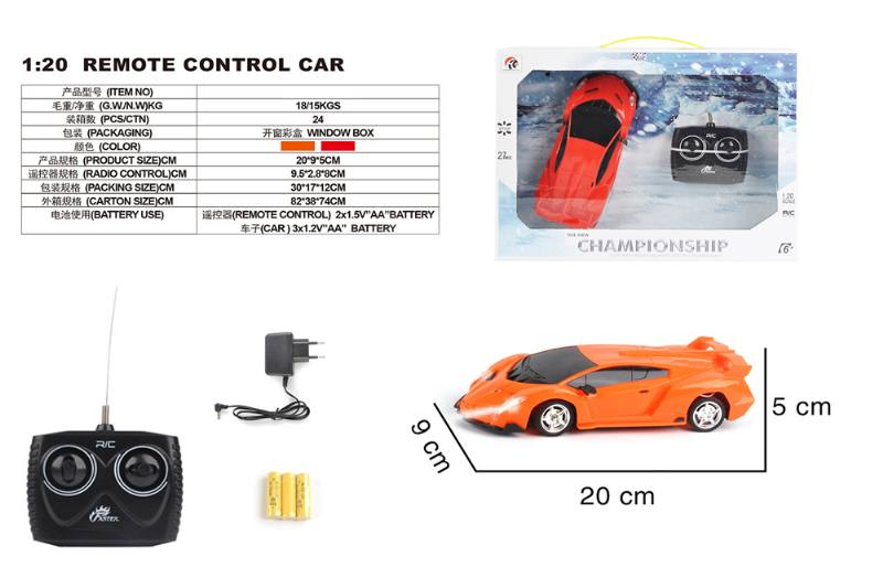 1:20 4 channel remote control RC car toys(included battery) No.TA258388