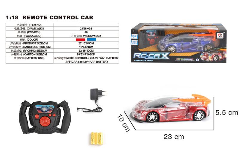 1:18 4 channel remote control RC car toys(included battery) No.TA258419
