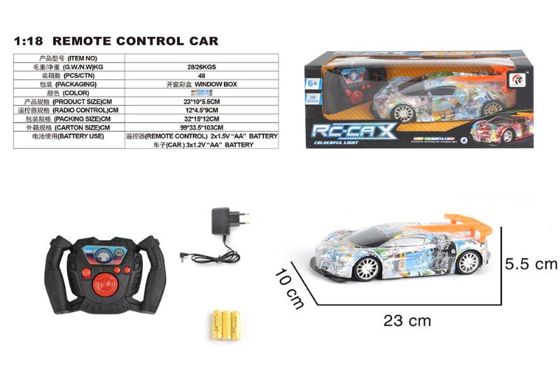 1:18 4 channel remote control RC car toys(included battery) No.TA258421