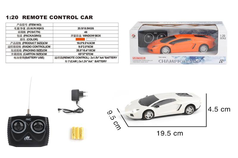 1:20 4 channel remote control RC car toys(included battery) No.TA258427