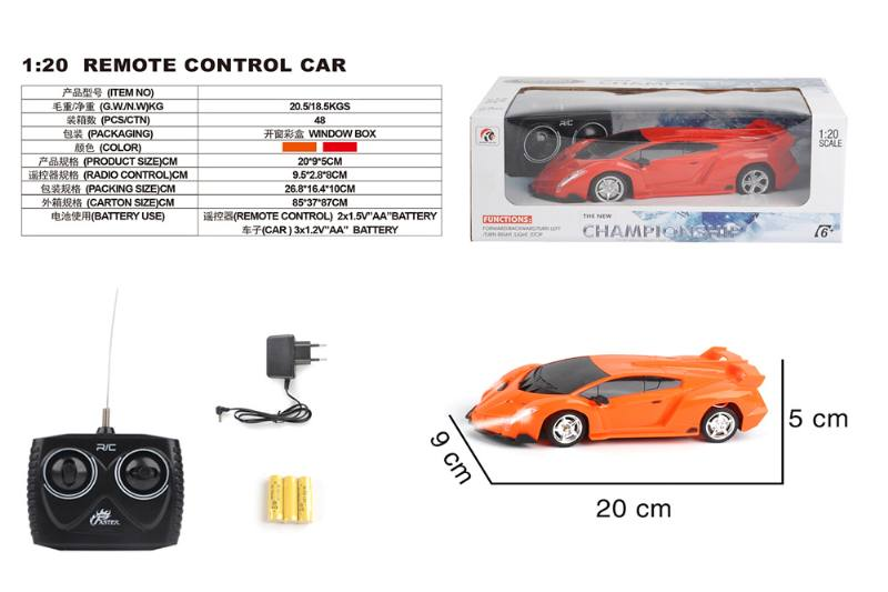 1:20 4 channel remote control RC car toys(included battery) No.TA258429