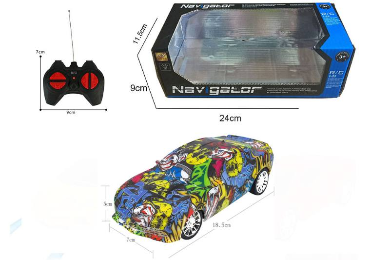 1:24 4 channel RC remote control cars with lights No.TA260091
