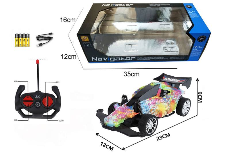 1:16 4 channel RC remote control car four-wheel drive with lights No.TA260101