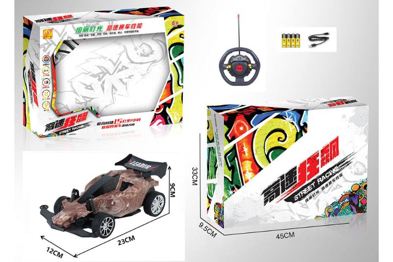 1:16 4 channel RC remote control car steering wheel with lights included battery No.TA260111