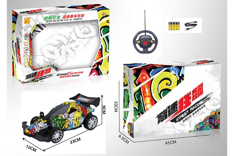 1:16 4 channel RC remote control car steering wheel with lights included battery No.TA260112