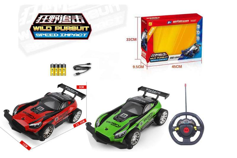 1:16 4 channel RC remote control car steering wheel with lights included battery No.TA260114