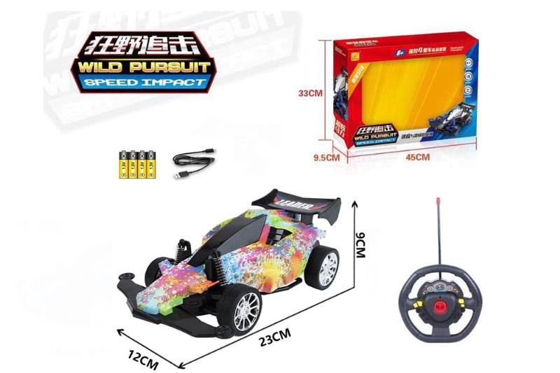1:16 4 channel RC remote control car steering wheel with lights included battery No.TA260116