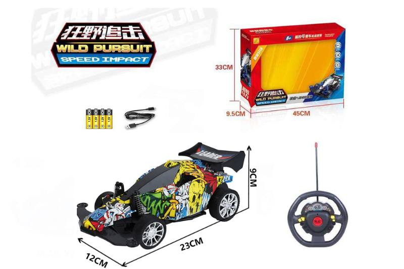 1:16 4 channel RC remote control car steering wheel with lights included battery No.TA260118