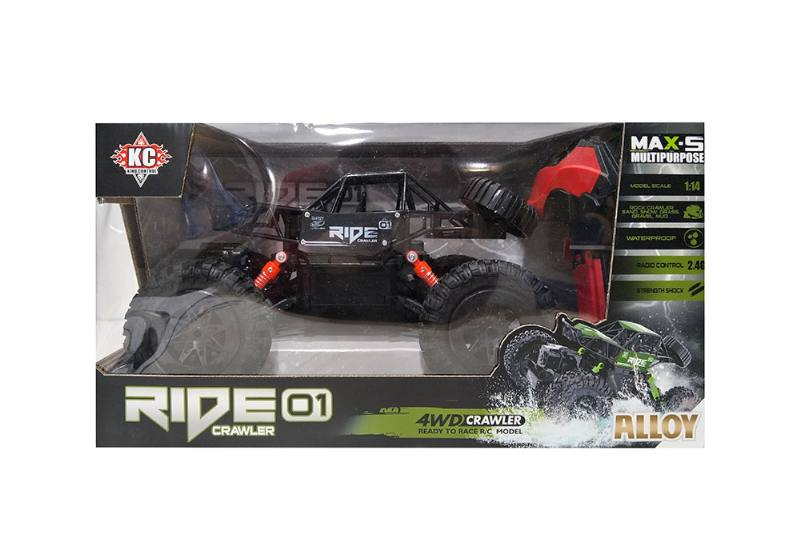 1:14 2.4G Four-wheel drive RC remote control off-road climbing car with battery