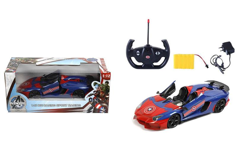1:12 5-way door remote control car (Lamborghini. Convertible) Captain America NO.TA262167
