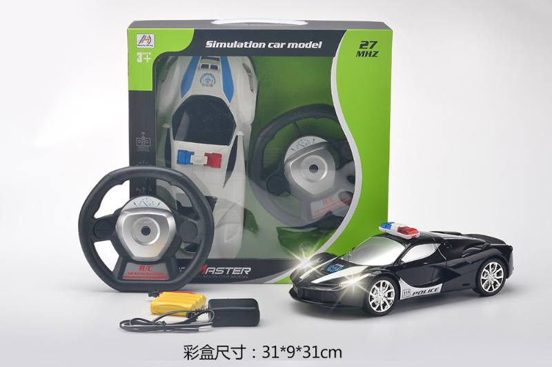 1:14 gravity induction four-way remote control police car (included battery) NO.TA262961