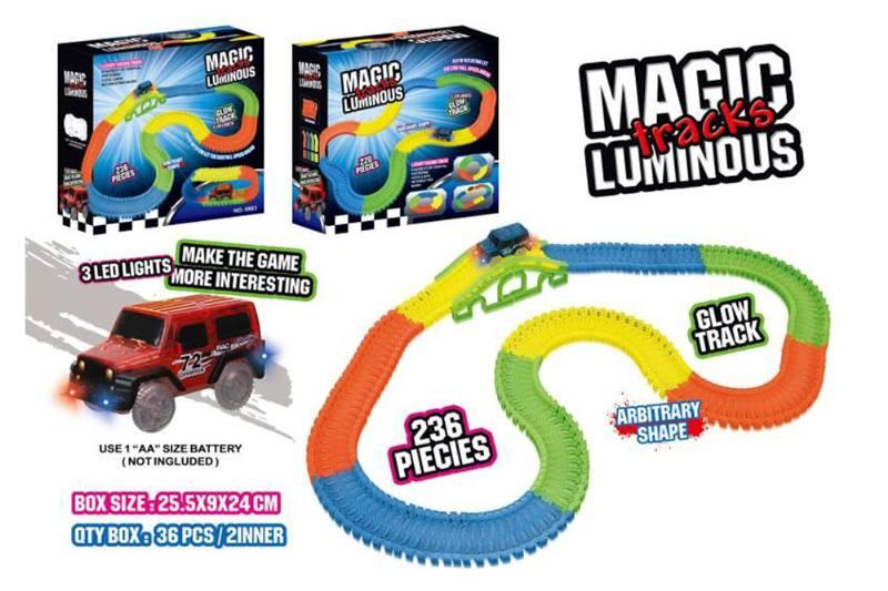 Electric rail car toy 236 luminous track car No.TA259347