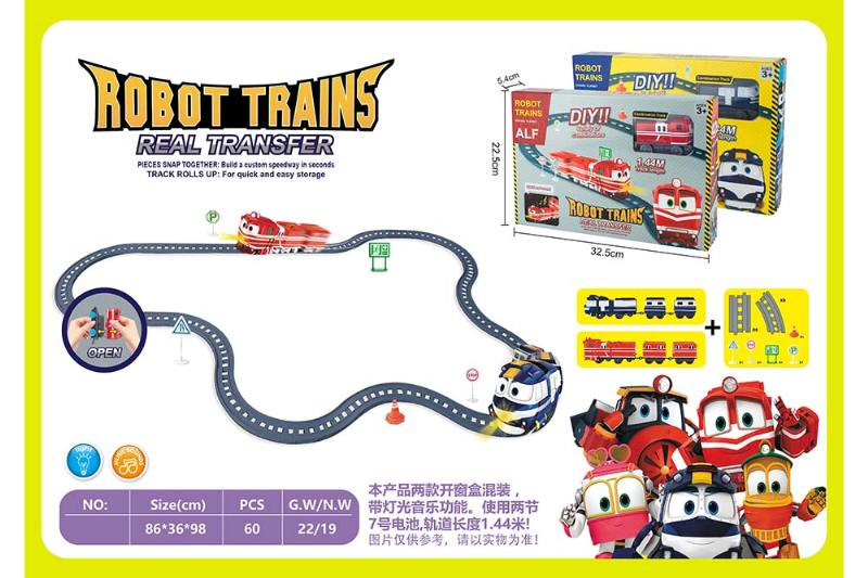 Electric assembled track train with light music (not included battery) No.TA260263