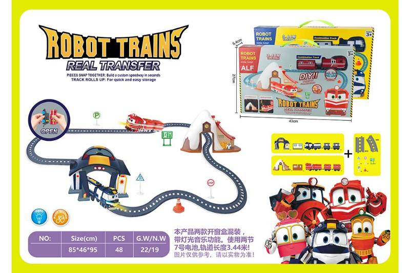 Electric assembled track train with light music (not included battery) No.TA260264