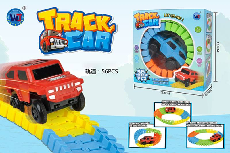 Electric rail car toy 56 tracks, no luminous No.TA260355