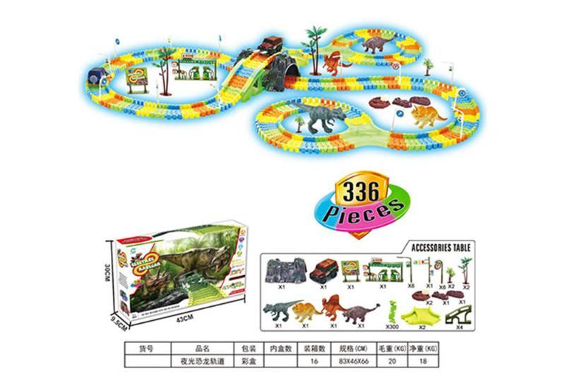 Electric Track Toys Luminous Dinosaur Tracks (336PCS) No.TA261622