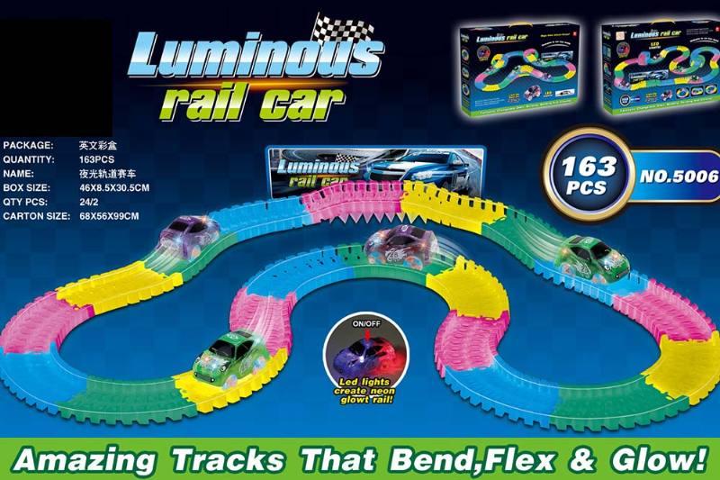 Electric rail car toys luminous soft acrobatic racing track NO.TA262381