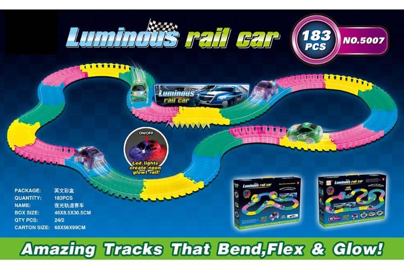 Electric rail car toys luminous soft acrobatic racing track NO.TA262382