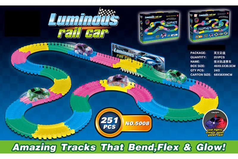 Electric rail car toys luminous soft acrobatic racing track NO.TA262383