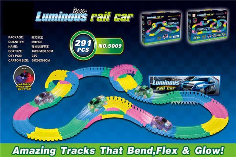Electric rail car toys luminous soft acrobatic racing track NO.TA262384