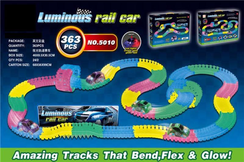 Electric rail car toys luminous soft acrobatic racing track NO.TA262385
