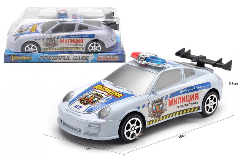 Inertial toy car model Russian friction police car No.TA254590