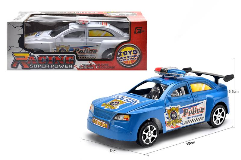 Inertial toy car model friction police car toys No.TA254594