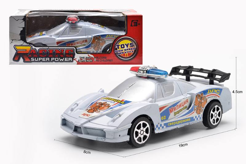 Inertial toy car model Russian friction police car No.TA254596