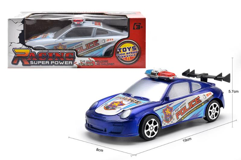 Inertial toy car model friction police car toys No.TA254598