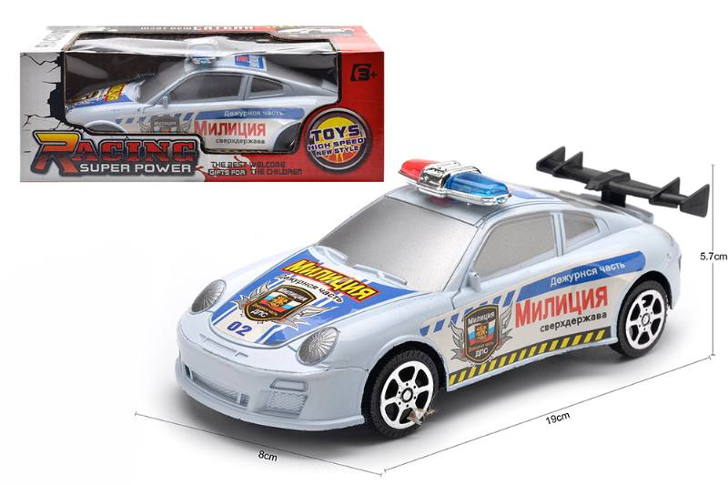 Inertial toy car model Russian friction police car No.TA254599