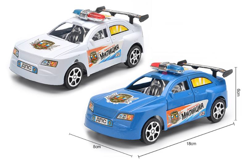 Inertial toy car model Russian inertial police car No.TA255072