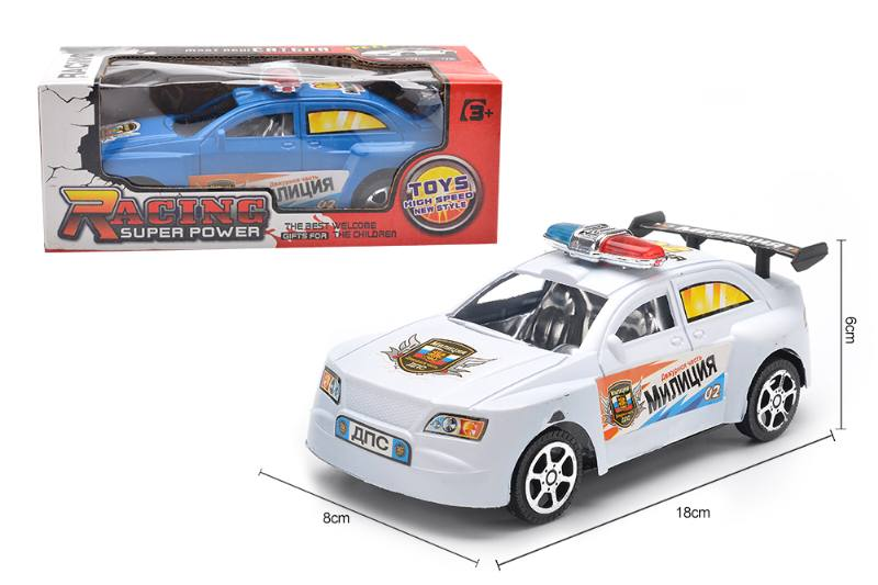 Inertial toy car model Russian inertial police car No.TA255073
