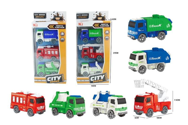 Friction toy Inertia car set No.TA260408