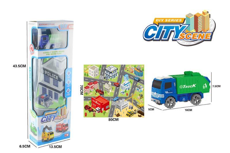 Friction toy Inertia car set No.TA260411