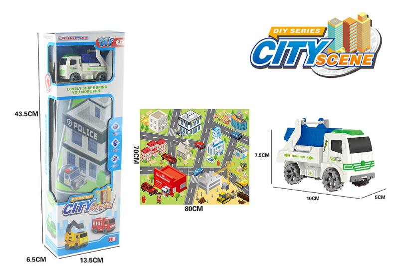 Friction toy Inertia car set No.TA260413