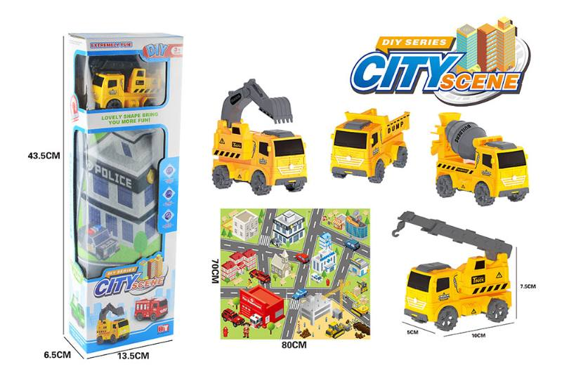 Friction toy Inertia car set No.TA260414
