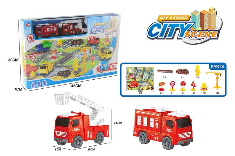 Friction toy Inertia car set No.TA260415