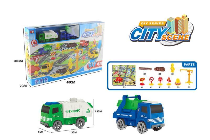 Friction toy Inertia car set No.TA260416
