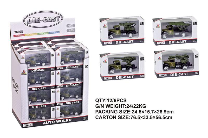 1:55 alloy pull back military vehicle NO.TA262400