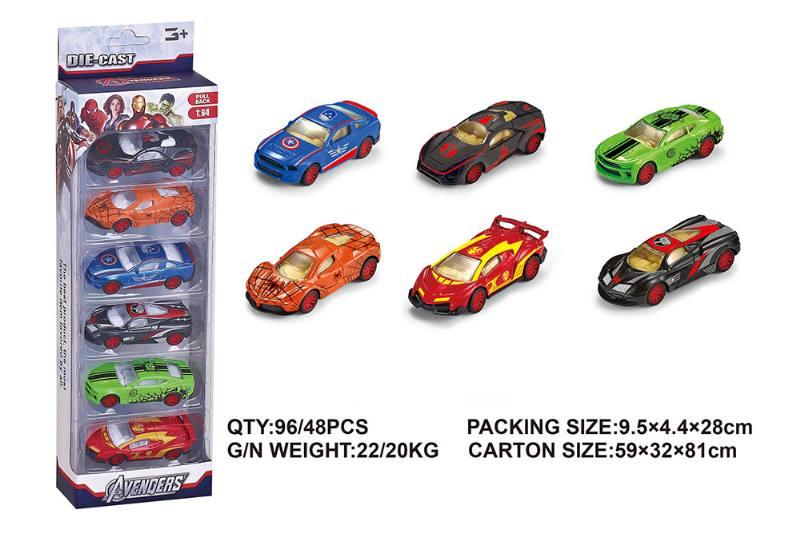 Alloy Warrior Avengers Sports Car Pullback Toy Car NO.TA262403